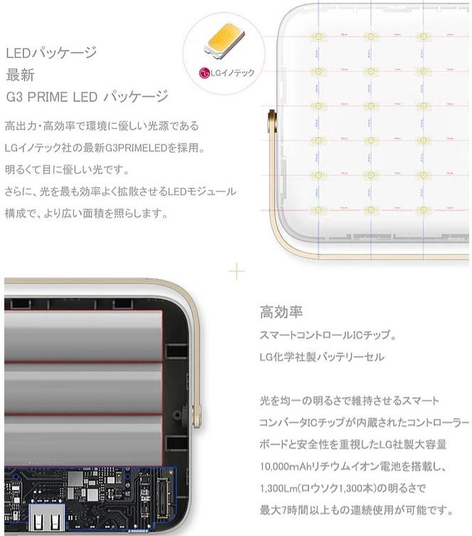 a581f35c04408 超軽量・高容量モバイルバッテリー機能付きワイヤレスLEDランタン「LUMENA7(ルーメナー7)」