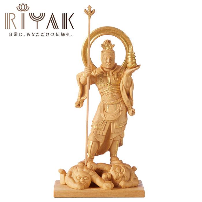 仏様と日常を共にするための木製仏像ブランド RIYAK® BASIC 毘沙門天 ...