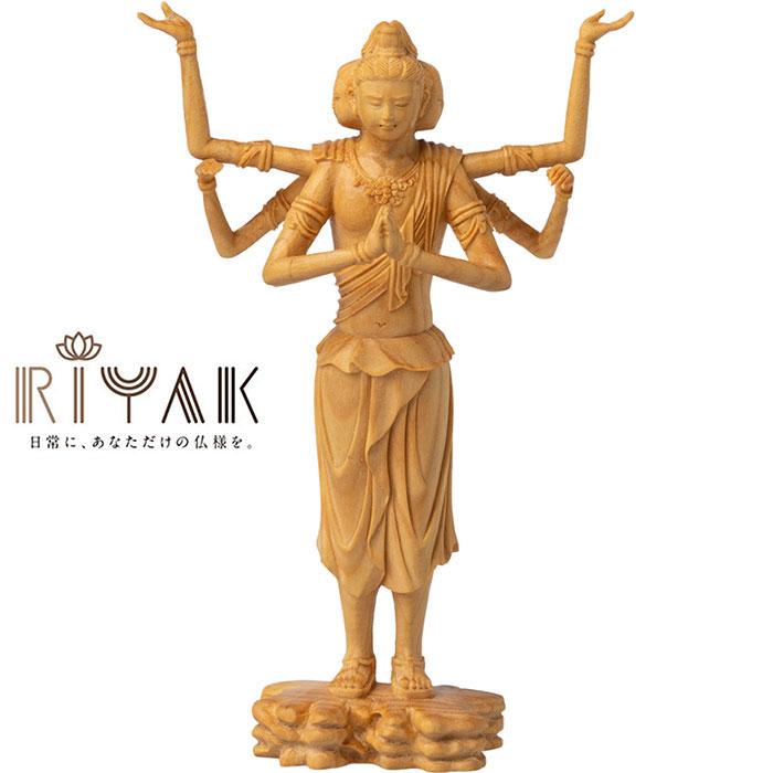 仏様と日常を共にするための木製仏像ブランド RIYAK® BASIC 阿修羅 ...