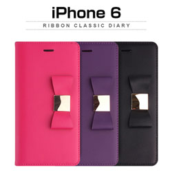 【iPhone 6s対応】LAYBLOCK Ribbon Classic Diary for iPhone 6