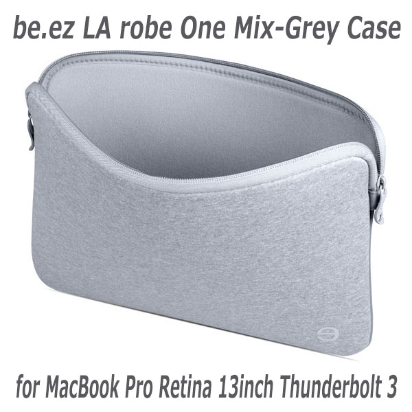 すべてのカラーをナチュラルグレーで統一 be.ez LA robe One Mix-Grey Case for MacBook Pro Retina 13inch Thunderbolt 3