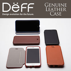 【44%OFF】継ぎ目がないデザインにマグネットフリップ内蔵 Deff Genuine Leather Case for iPhone 6s/6