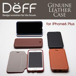 【44%OFF】継ぎ目がない手帳型ケース Deff Genuine Leather Case for iPhone 6s Plus/6 Plus