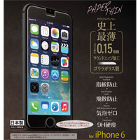 CRYSTAL ARMOR PAPER THIN ゴリラガラス0.15mm for iPhone 6(4.7inch版) フッ素コート剤お買い得特別セット