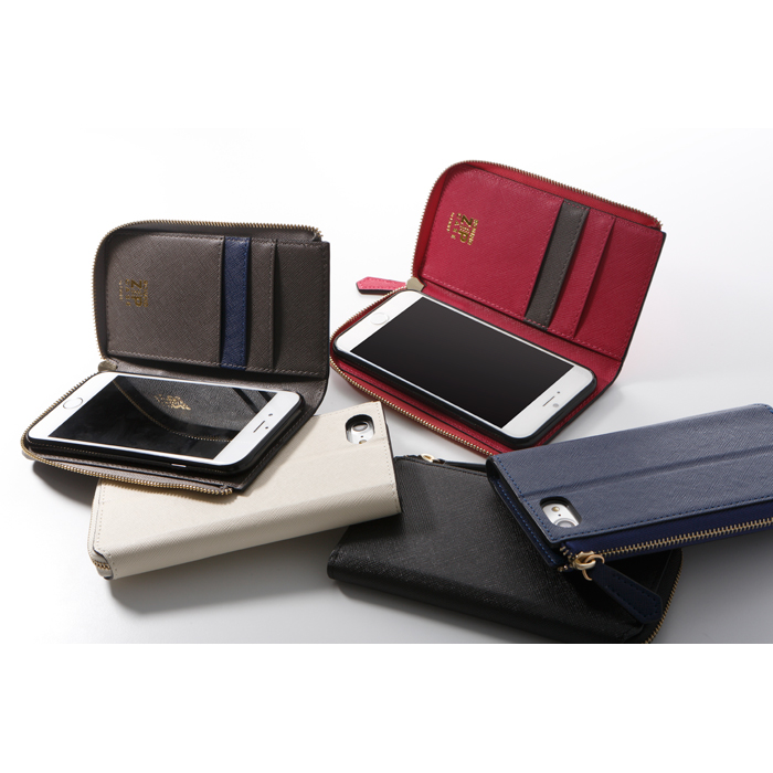 a1a4638d7c ... ラウンドファスナー付きロングウォレットスタイルのソフトレザーケース ROUND ZIP CASE for iPhone 7 Plus.  search 大きい画像を見る