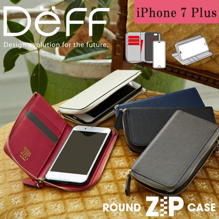 2d8016b22f 【iPhone 7 Plus】ラウンドファスナー付きロングウォレットスタイルのソフトレザーケース ROUND ZIP CASE for iPhone  7 Plus 3,900円(税込)